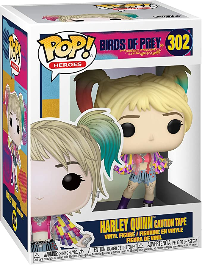 Funko- Pop Heroes: Birds of Prey-Harley Quinn (Caution Tape ...