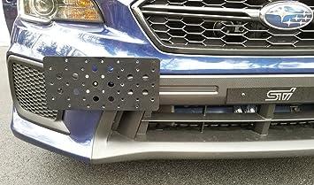 Bumper Tow Hook License Plate Mount Bracket For SUBARU WRX STI 2015 16 17 2018