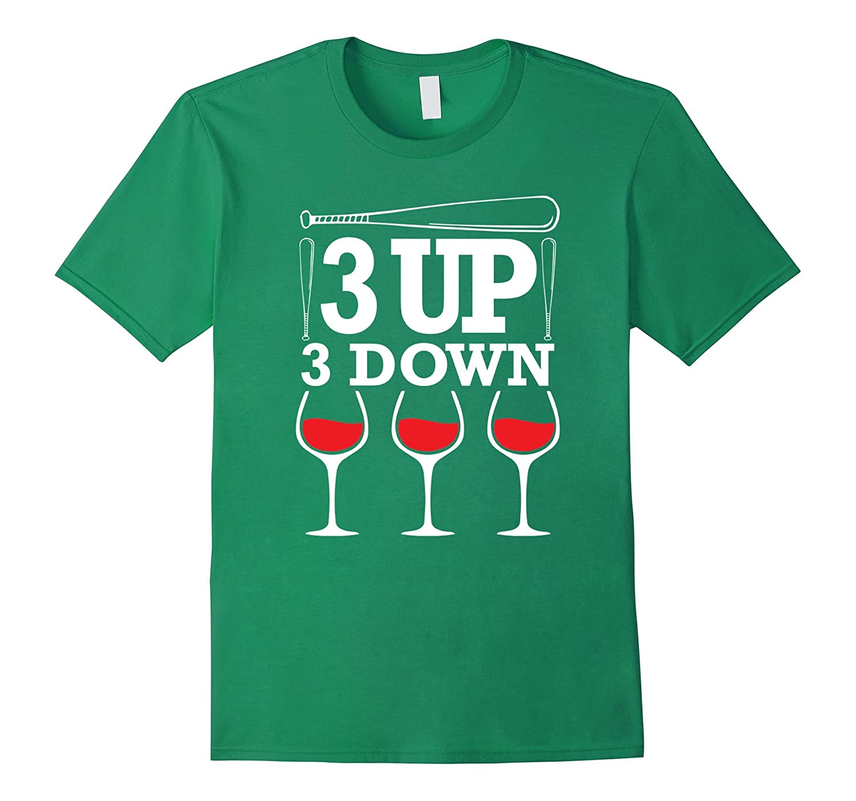 3 up 3 down T shirt Baseball Mom T-Shirt-BN