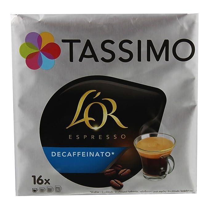 TASSIMO LOr Café Decaffeinato - 5 paquetes de 16 cápsulas: Total ...