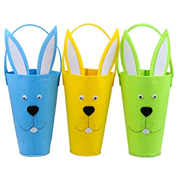 Amazon ki store goodie bags for kids felt easter egg hunt ki store goodie bags for kids felt easter egg hunt gift bag bunny baskets for toddlers negle Gallery