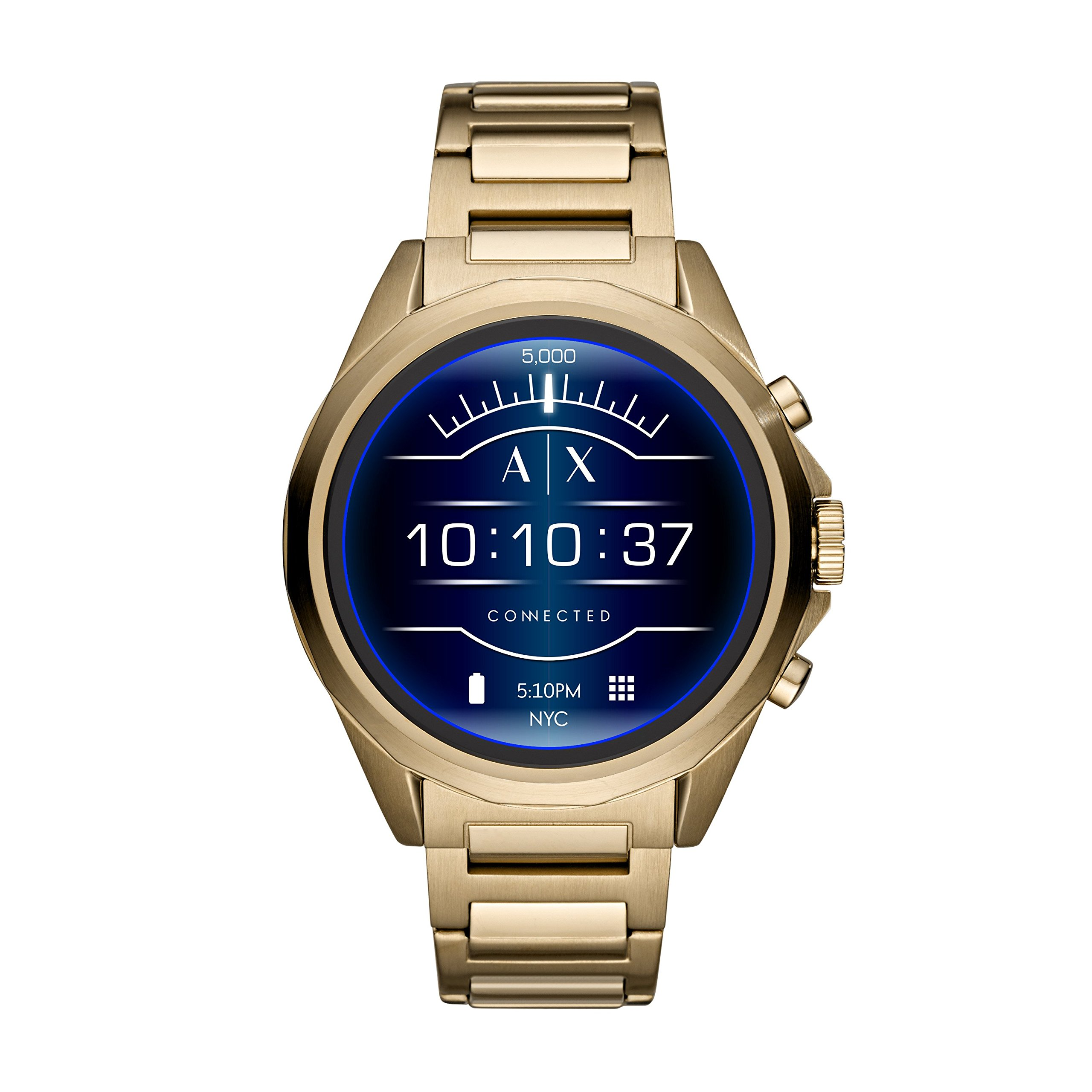 Armani Exchange Men's AXT2001 Smartwatch Digital Display Analog Quartz Gold Watch