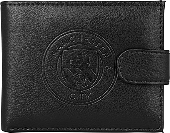 Manchester City Boxed Leather Wallet Embossed Crest