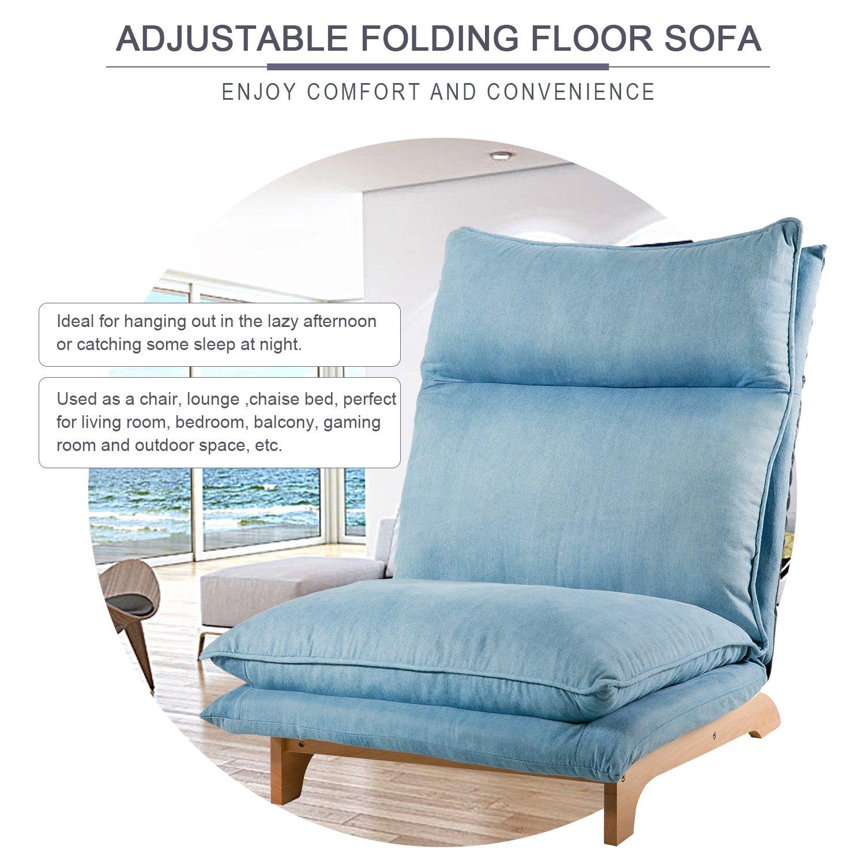 Amazon Harper & Bright Designs Adjustable Folding Sofa Lounge