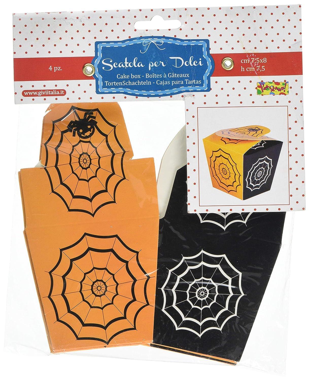 Amazon.com: Givi Italia 52982 4 Boxes Spider Web, Multi-Colour, 7.5 x 8 x 7.7 cm: Toys & Games