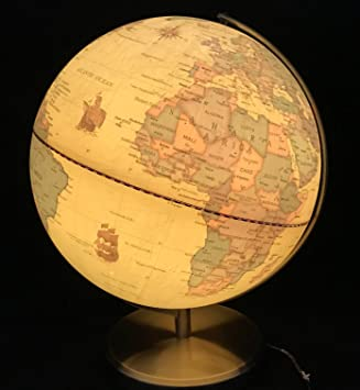 125 35cm large vintage antique illuminated rotating swivel globe 125quot 35cm large vintage antique illuminated rotating swivel globe world map educational toy table desk gumiabroncs Gallery
