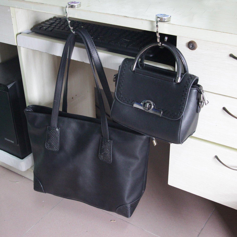 BEAVO Set of 6 Mixed Pattern Foldable Womens Bag Purse Hook Handbag Hanger Holder by BEAVO (Image #6)