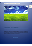 MCSA Cloud Infrastructure Lab Guide: 70-534 Exam: Architecting Microsoft Azure Solutions