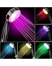 Led Light Shower,Tonskooners 7 Colour Changing Shower Head LED Light Up Automatically Rainfall Bathroom Showerhead Adjustable Shower (multicolor)