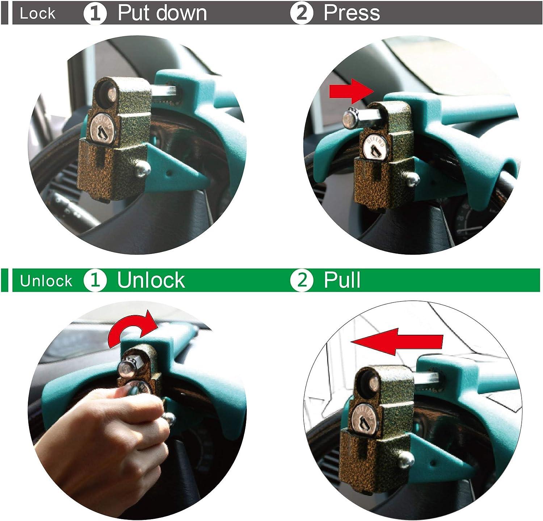 DEFEND Steering Wheel Lock for Universal Steering Wheel Size