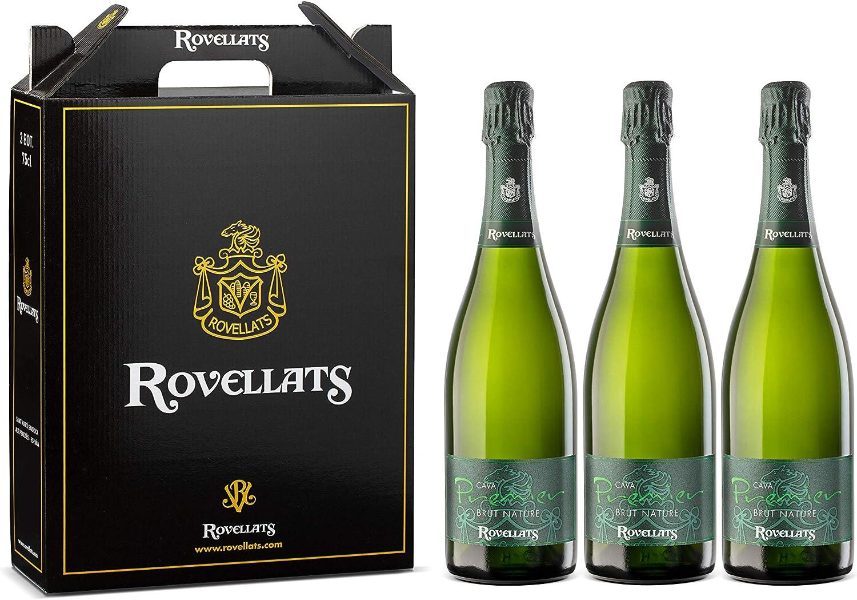 Cava Rovellats - 6 botellas Premier Premier Brut Nature - D.O. CAVA - Macabeo y Parellada - Ideal para aperitivos y pescados - Nuevo concepto de cava - 75 cl: Amazon.es: Alimentación y bebidas