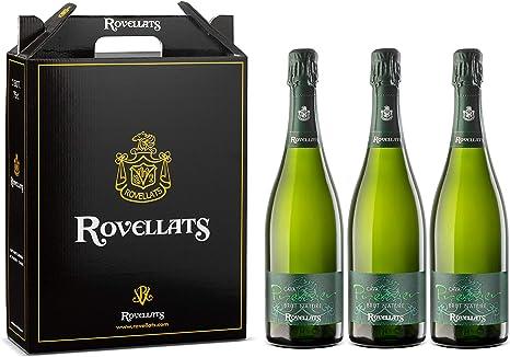 Cava Rovellats - 3 botellas Premier Brut Nature - D.O. CAVA - Macabeo y Parellada - Ideal para aperitivos y pescados - Nuevo concepto de cava - 75 cl: Amazon.es: Alimentación y bebidas