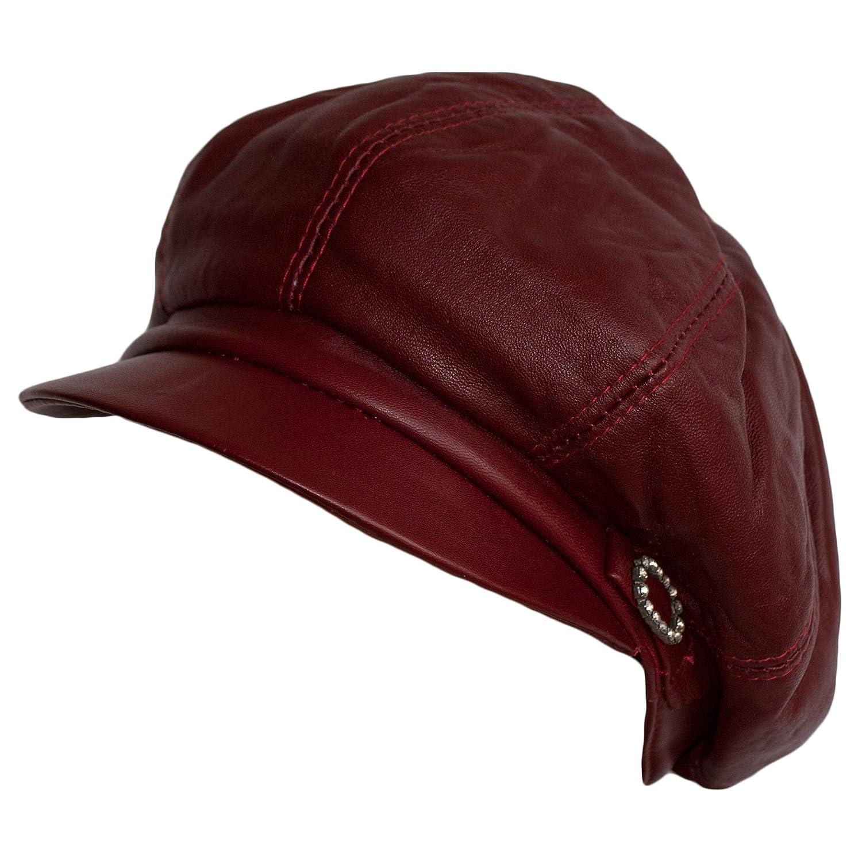 151c0688a016 Dazoriginal Womens Big Baker Boy Cap Leather Hat Newsboy Vintage Slouchy  Painter: Amazon.co.uk: Sports & Outdoors