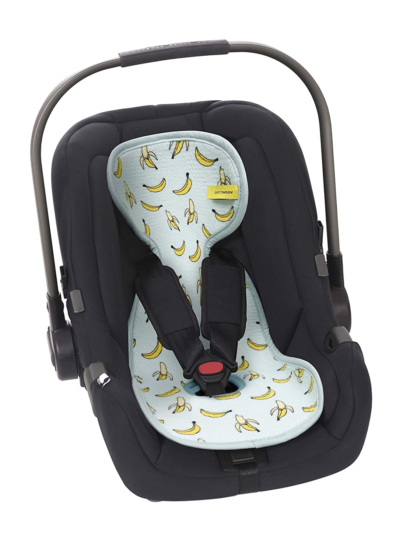 Aeromoov Air Layer Bezug Atmungsaktiv Verhindert Das Schwitzen Des Kindes Organische Baumwolle Autositz Bananas Gruppe 0 140 G Baby