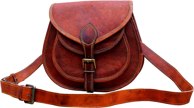Women/'s Vintage Genuine Leather Messenger Shoulder Cross Body Brown Bag Handmade