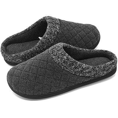 RockDove Men's Knit Collar Memory Foam Slip-On   Slippers