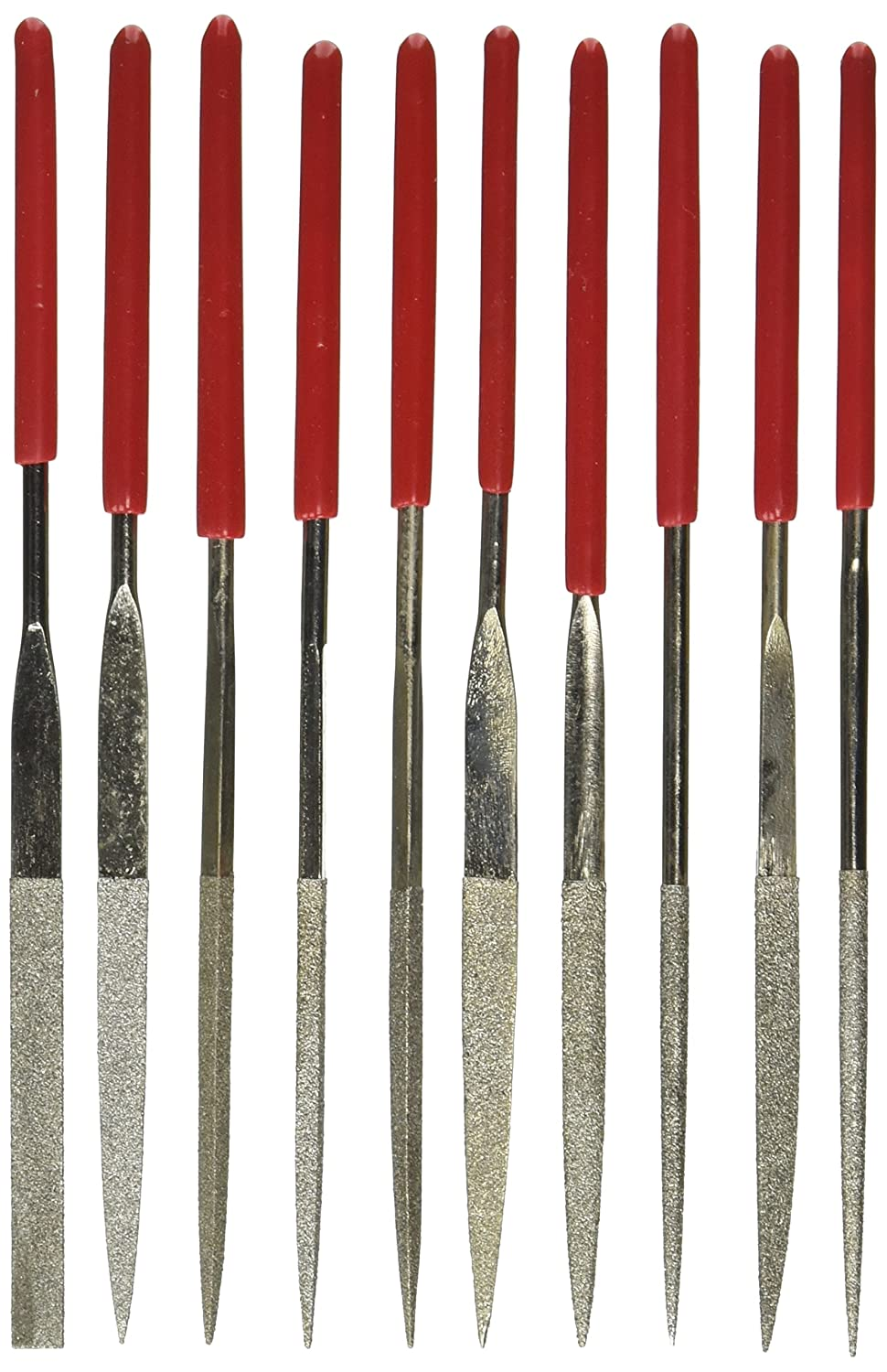 Silver Tone Red 3mm x 140mm Uxcell Lapidary Jeweler Round Rat Tail Diamond Files