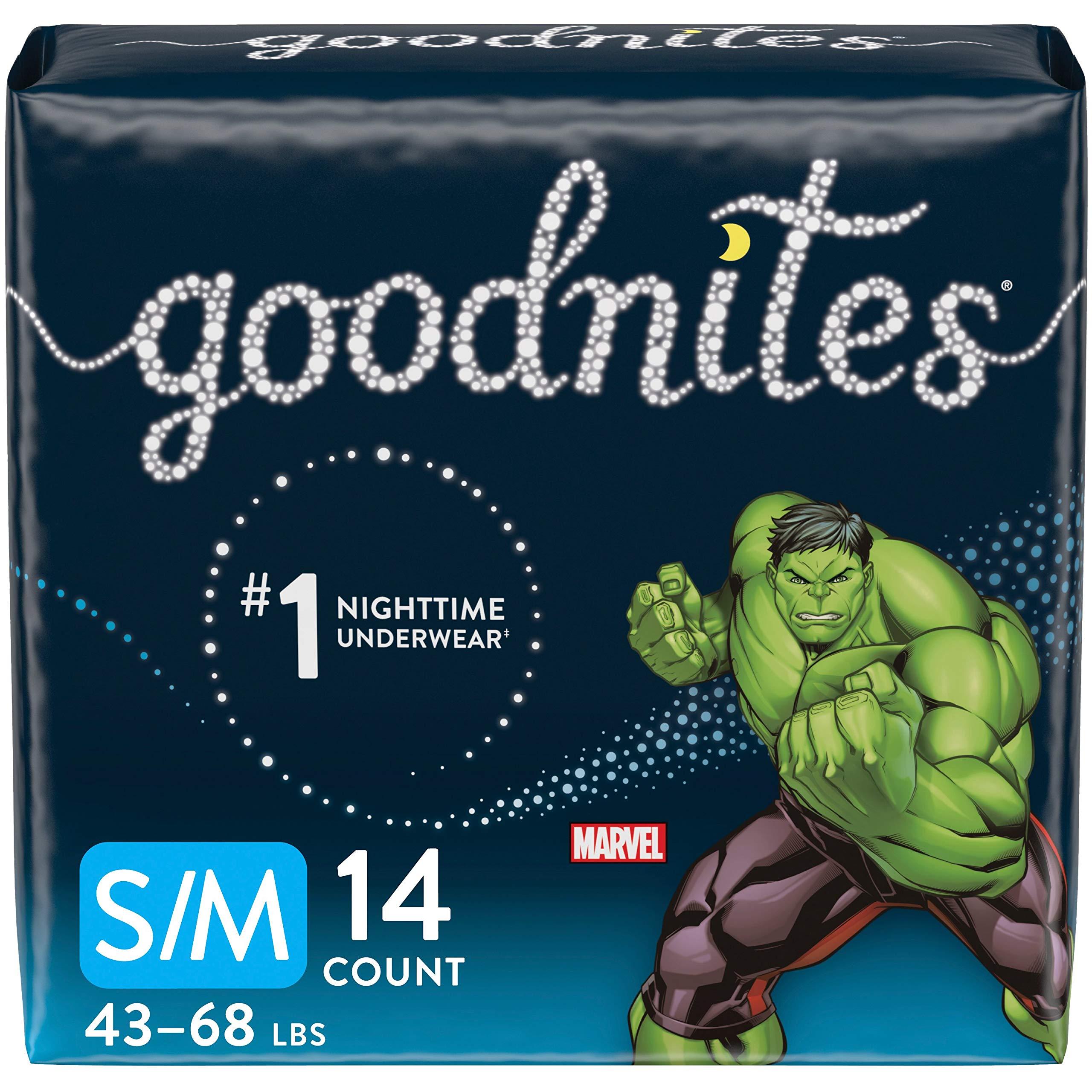 Goodnites, Boys Bedwetting Underwear, S/M, 14 Ct