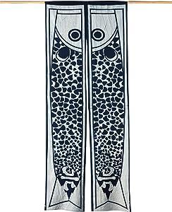 "flber Noren Japanese Door Curtain Kitchen Curtain Indigo Tapestry Bedroom and Bathroom Curtains,80""x 32"""