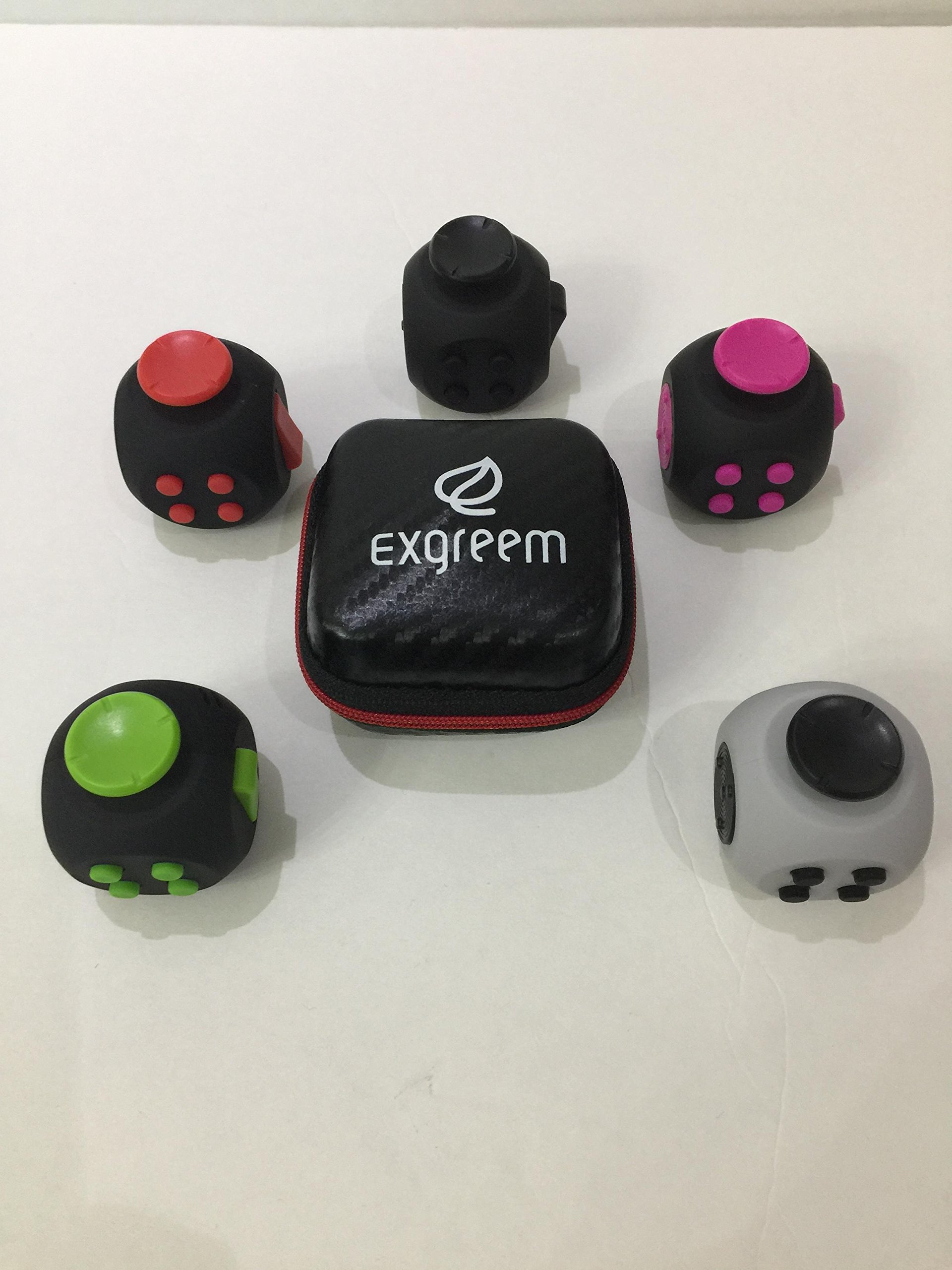 Exgreem 2017 NEW Third Generation Upgraded Version Fidget Cube, Anti-anxiety and Depression Cube for Children and Adults (Black)