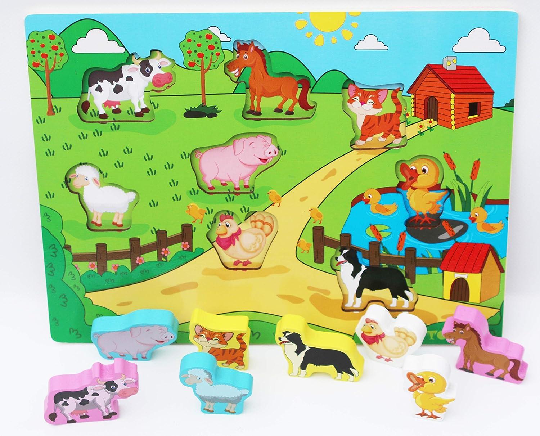 Jouet /éducatif pour Enfant Assortir et Trier 26 Alphabet Color/é pour Apprendre Les Lettres Toys of Wood Oxford TOWO Lettres Puzzles en Bois