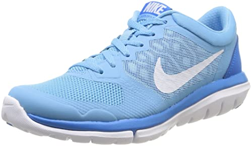 UK Shoes - Nike Flex 2015 Running Shoe blue Black WhiteSize 6Y Athletic Shoe Sports Blue