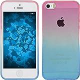 PhoneNatic Custodia Apple iPhone 5 / 5s / SE Ombrè Design:06 Cover iPhone 5 / 5s / SE in silicone + pellicola protettiva