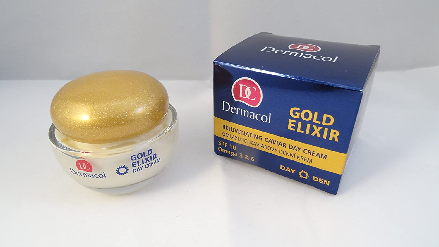 Amazon.com: Crema de Día con Caviar - FPS10 - Gold Elixir - Dermacol: Beauty