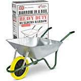 Walsall Wheelbarrows Galvanized Wheelbarrow with Puncture Proof Wheel