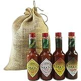 Tabasco Sauce Variety Assortment Pack Gift Set (Original, Habanero, Chipotle, Garlic)