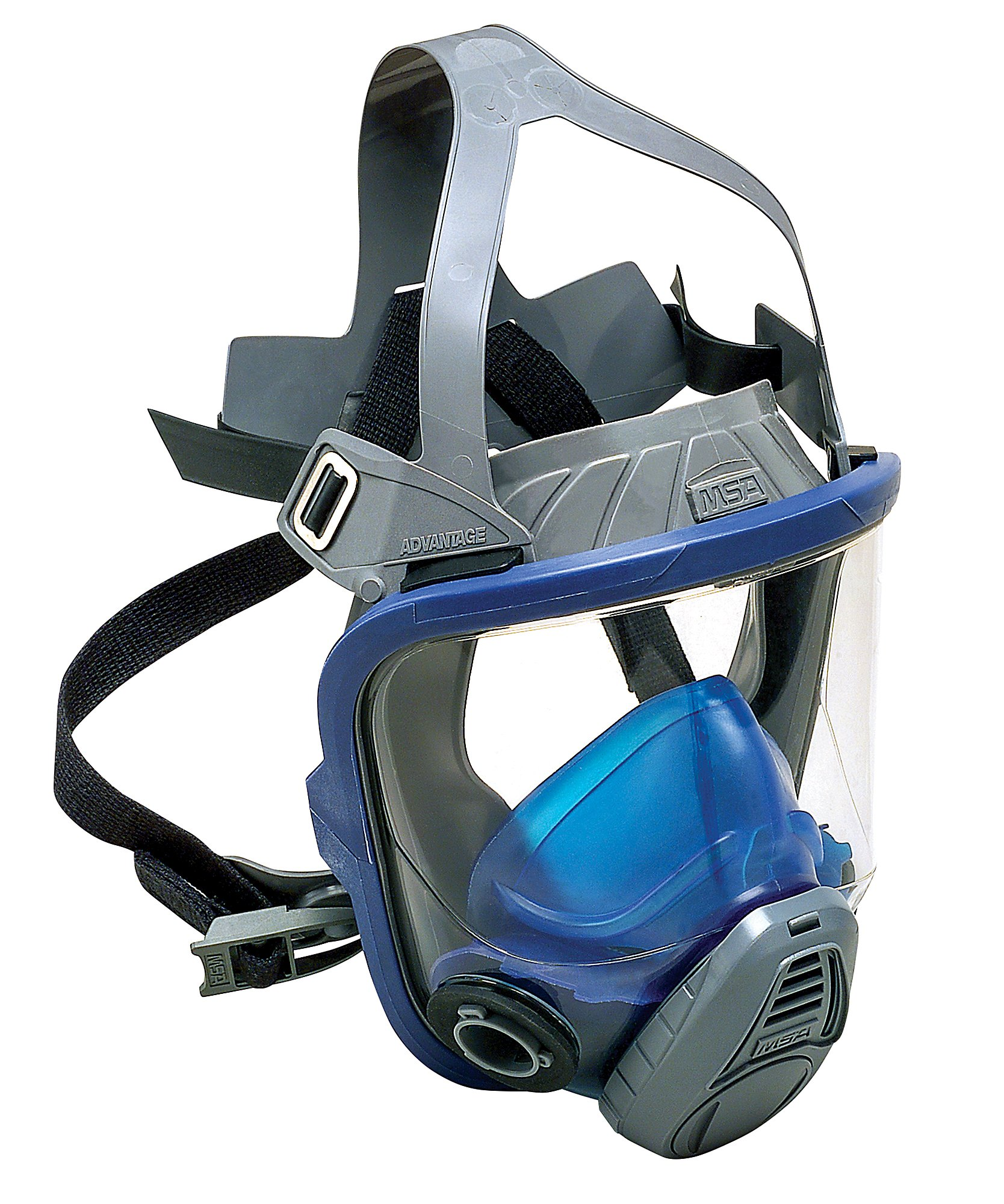 MSA Safety 10031341 Advantage 3200 Full-Facepiece Respirator with European Head Harness, Large
