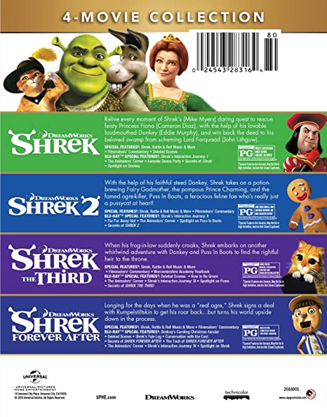 Amazon Com Shrek 4 Movie Collection Blu Ray Mike Myers Eddie