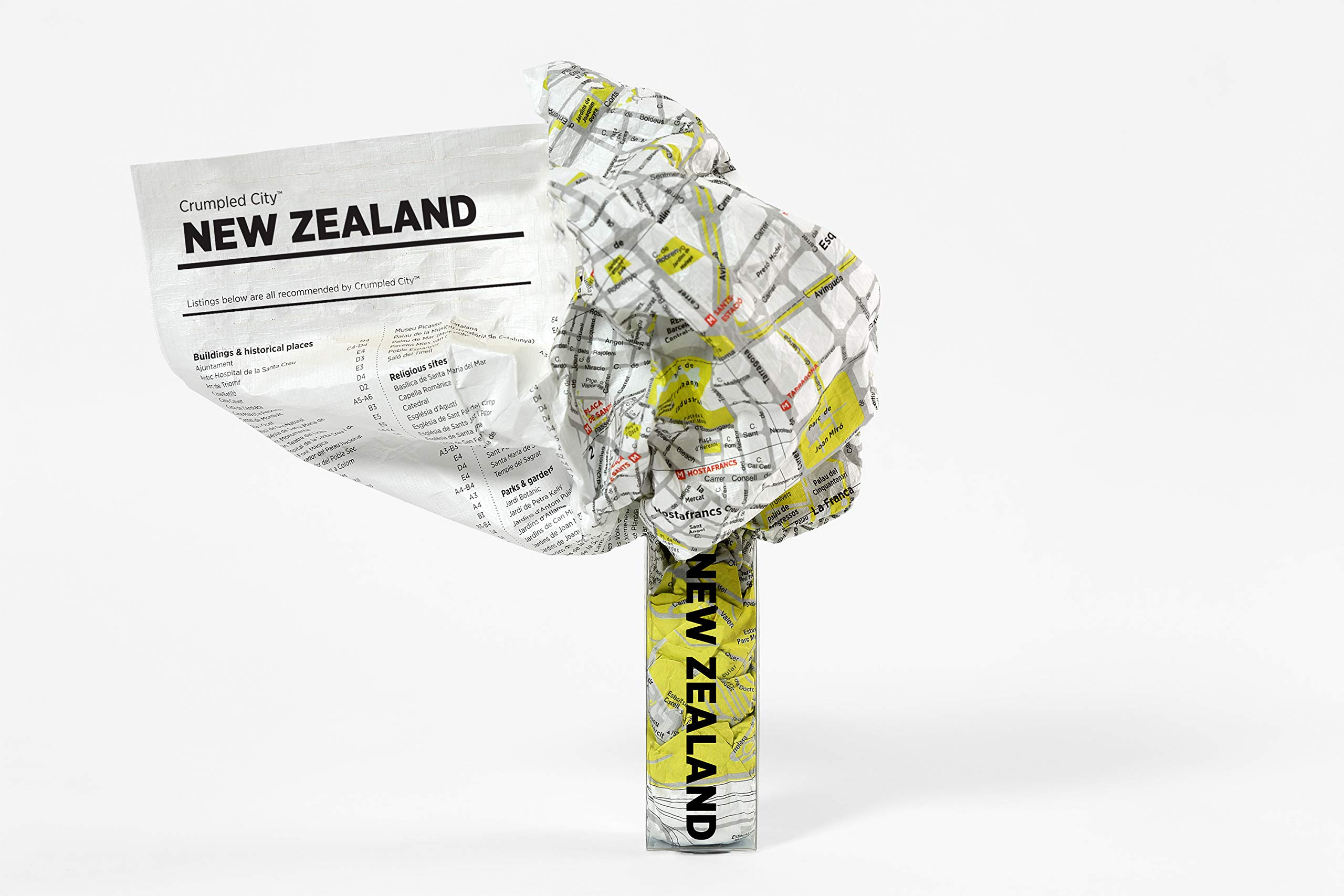 New Zealand Crumpled City Map (Crumpled City Maps)