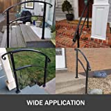 Happybuy 3-Step Transitional Handrail Fits 1 or 3