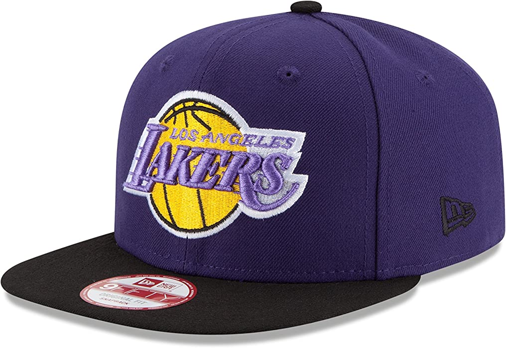 NBA Los Angeles Lakers Hardwood Classics 2Tone Basic 9FIFTY Snapback Cap 3a304c8e5