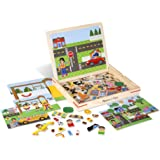 Melissa & Doug 19918 Wooden Magnetic Matching Picture Game with 119 Magnets and Scene Cards