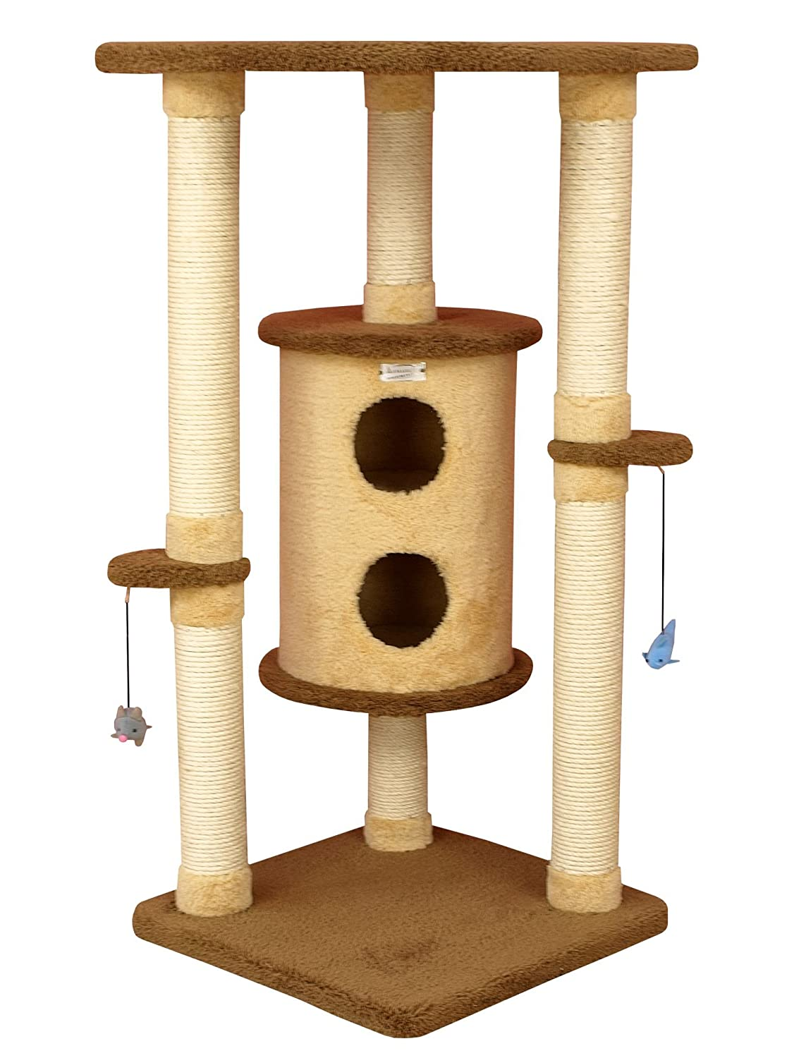 24\ Armarkat Premium Cat Tree X4401 Glodenrod and Tan