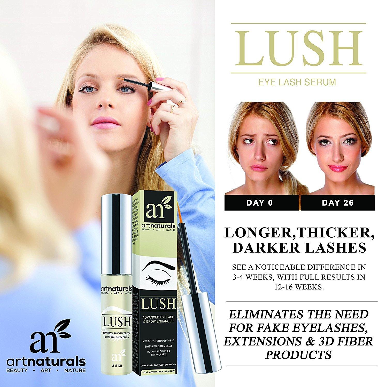 amazon com artnaturals eyelash growth serum 3 5ml thicker