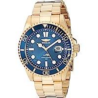 Invicta Pro Diver 30024 - Reloj de cuarzo para hombre con correa de acero inoxidable, color dorado, 22