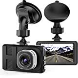 """Dash Cam Camera for Cars with Full HD 1080P 170 Degree Super Wide Angle Cameras, 3.0"""" TFT Display, WDR, Loop Recording, G-Sensor (Black)"""