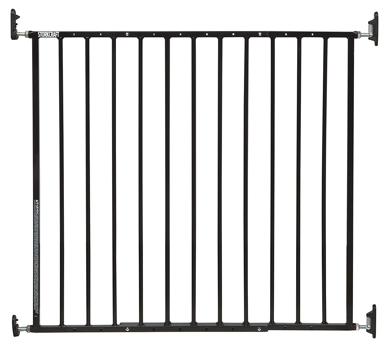 Storkcraft Easy Walk-Thru Metal Safety Gate Black 27 Inches Tall, Easy to Install, Pet-Friendly, Durable Metal Hardware, Ideal for Children and Larger Pets