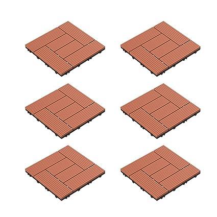 Composite WPC Plastic Decking Boards DIY Easy Fit Balcony Patio Garden Collect
