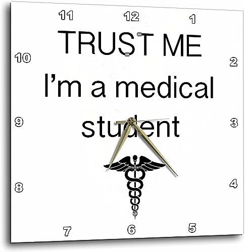 3dRose Trust me I m a Medical Student-Wall Clock, 15-inch DPP_110017_3