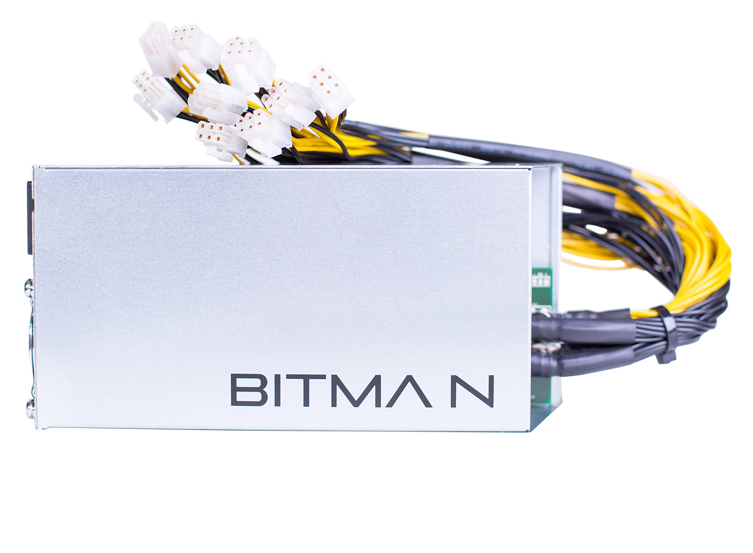 Power Supply for Bitmain AntMiner L3+ S9 T9 D3(APW3++-12-1600W-A3//10 Connectors) by BITM Power Part