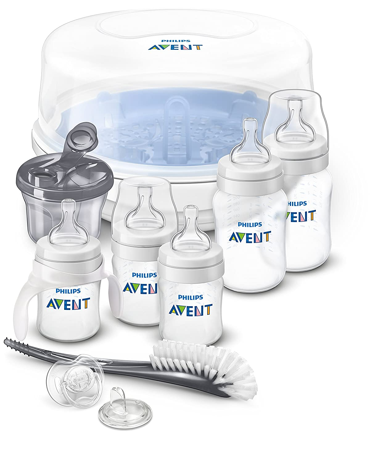 Philips AVENT Anti-Colic Bottle Essentials Newborn Starter Set, Clear SCD398/01