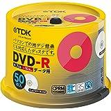 TDK データ用DVD-R CPRM対応 4.7GB 1-16倍速対応 パールカラーディスク 50枚スピンドル DR47DALC50PS