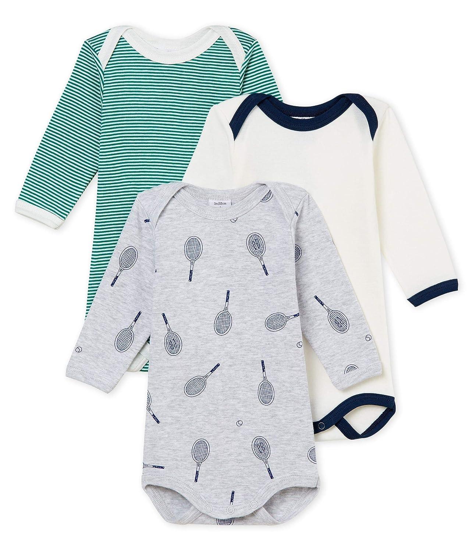 Petit Bateau Baby-Jungen Formender Body per of 3