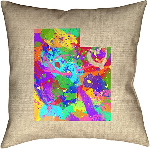ArtVerse Katelyn Smith 18 x 18 Cotton Twill Double Sided Print with Concealed Zipper /& Insert Wyoming Canvas Pillow