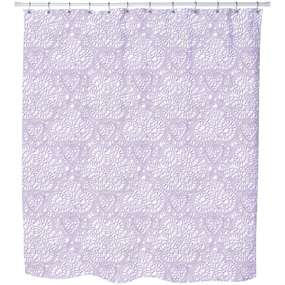 Lace Love Shower Curtain: Large Waterproof Luxurious Bathroom Design Woven Fabric