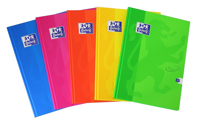 Quaderni con copertina rigida Oxford Touch, formato A4, 192pagine, colori assortiti, confezione da 5 Hamelin Brands Ltd 400090141